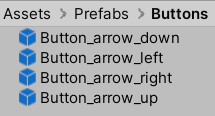 A picture showing where to find the different button prefabs.