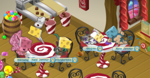 A picture showing our animal characters in the game, Animal Jam.