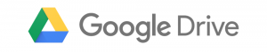 A picture showing the Google Drive logo.